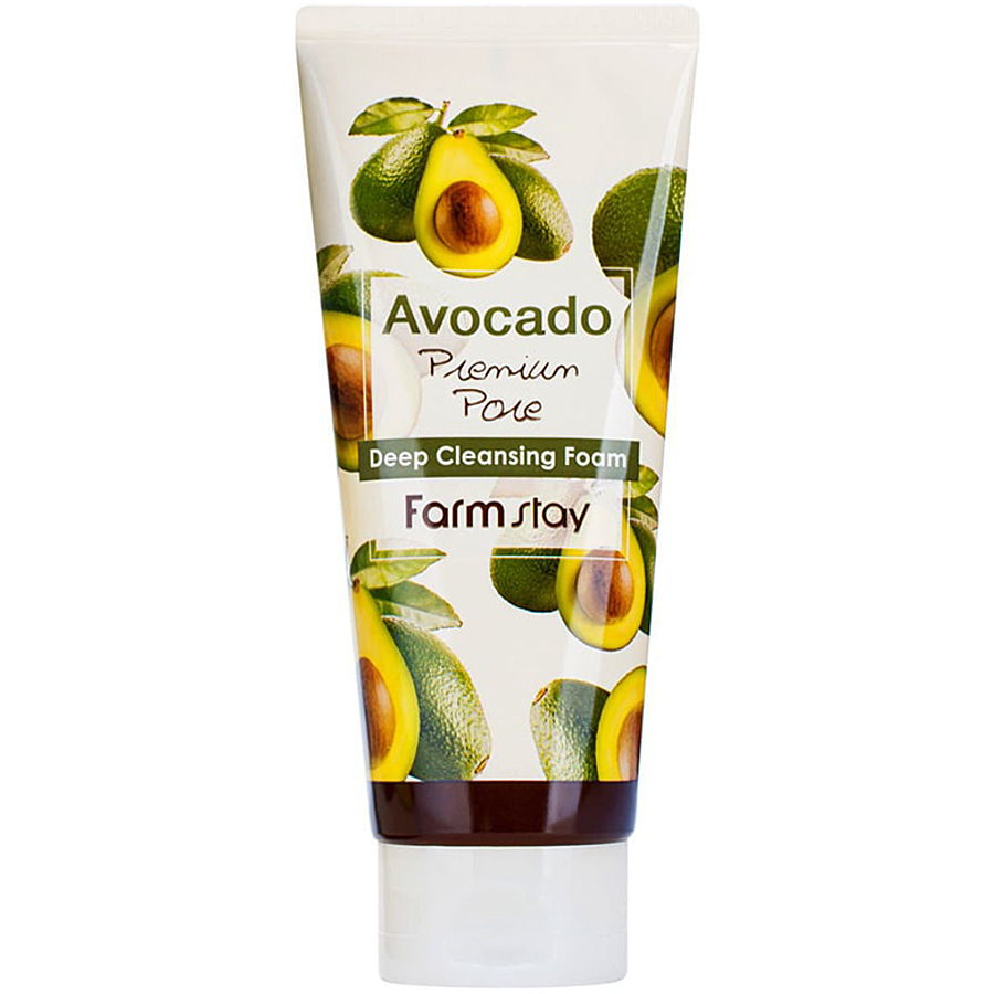 FARMSTAY Avocado Deep Cleansing Foam, 180мл. Пенка для умывания для всех типов кожи с маслом авокадо