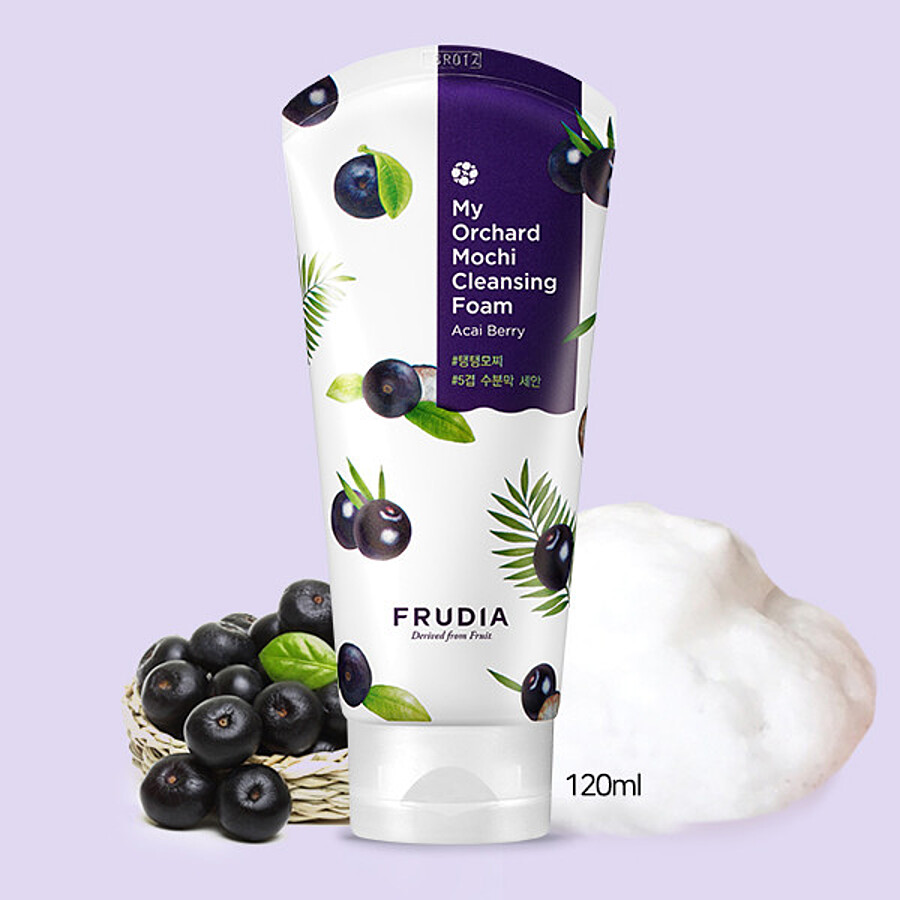 FRUDIA My Orchard Acai Berry Mochi Cleansing Foam, 120мл. Пенка-моти для умывания c ягодами асаи