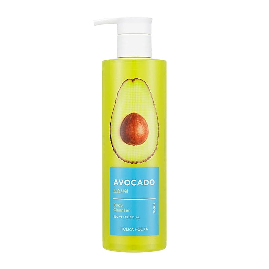 HOLIKA HOLIKA Avocado Body Cleanser, 390мл. Гель для душа с маслом авокадо
