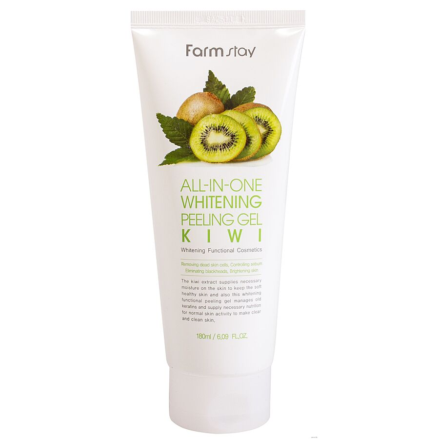FARMSTAY All-in-one Whitening Peeling Gel Kiwi, 180мл. Пилинг-гель для лица с экстрактом киви