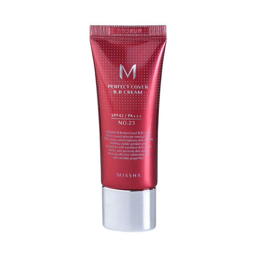 MISSHA M Perfect Cover BB Cream SPF42 PA+++, 20мл. ББ-крем для лица #23тон