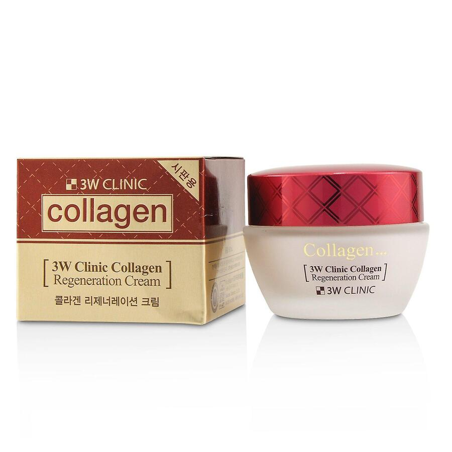 3W CLINIC Collagen Regeneration Cream, 60м. Крем-суфле для лица с морским коллагеном
