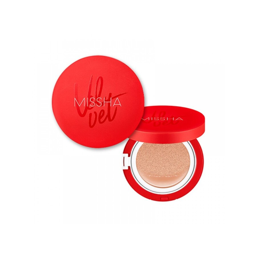MISSHA Velvet Finish Cushion SPF50+ PA+++, 15гр. Кушон для лица с натуральным матовым финишем #23тон