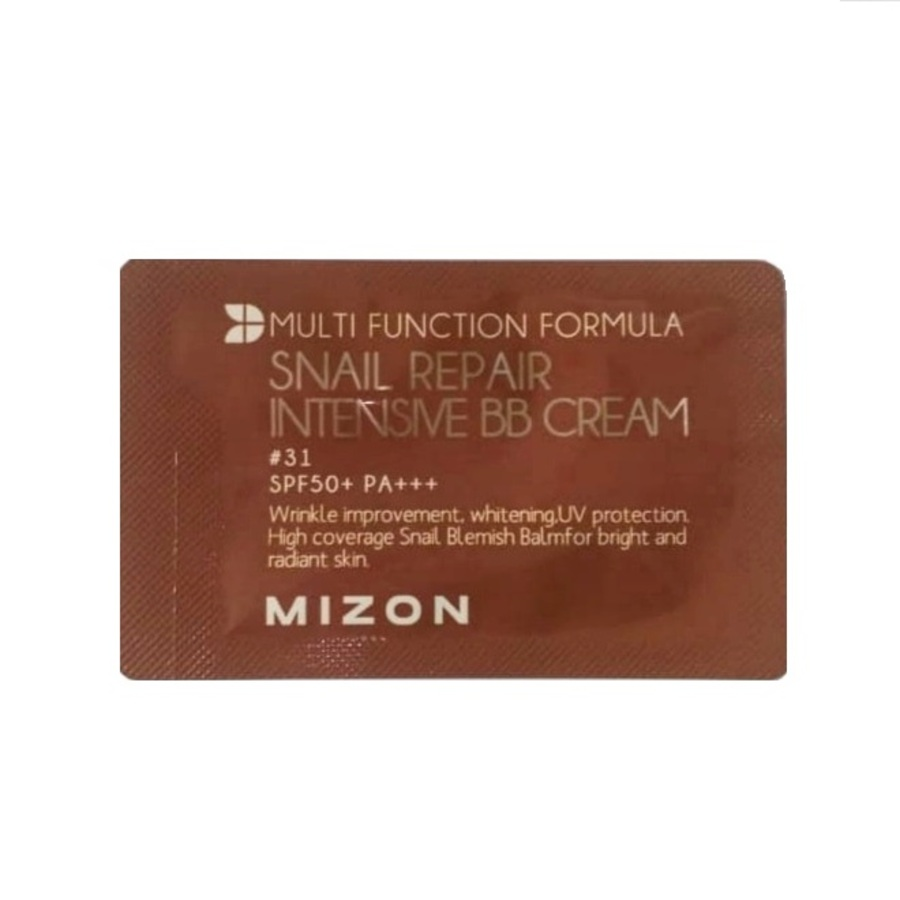 MIZON Snail Repair Intensive BB Cream, 1мл. Пробник ББ-крема с экстрактом муцина улитки №31