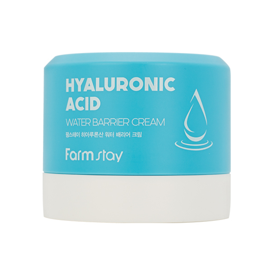 FARMSTAY Hyaluronic Acid Water Barrier Cream, 80мл. Крем для лица восстанавливающий с гиалуроновой кислотой