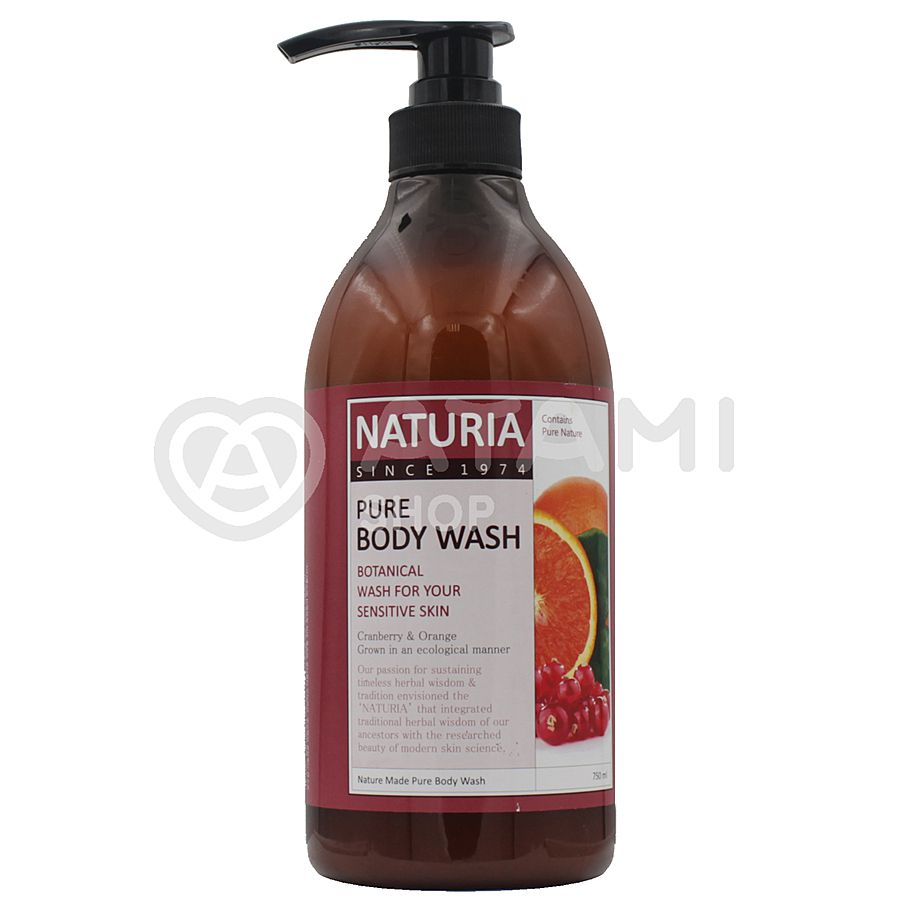 EVAS Naturia Pure Body Wash Cranberry & Orange Гель для душа с ароматом клюквы и грейпфрута