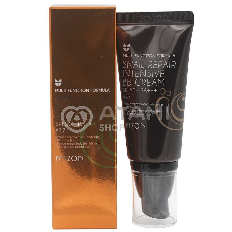 MIZON Snail Repair Intensive BB Cream SPF50+ РА+++ #27 ББ-крем с экстрактом муцина улитки