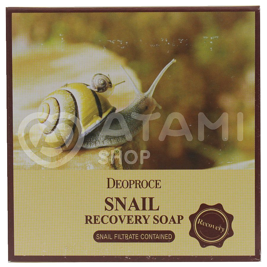 DEOPROCE Snail Recovery Soap Мыло для лица с муцином улитки