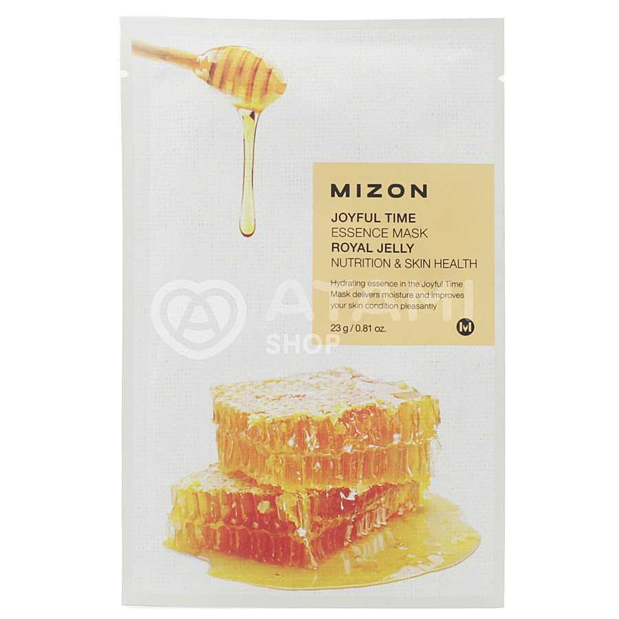 MIZON Essence Mask Royal Jelly Nutrition & Skin Health, 23гр. Маска для лица тканевая заживляющая с экстрактом маточного молочка