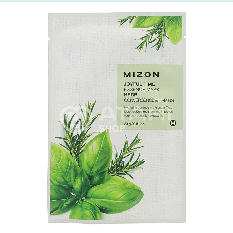 MIZON Joyful Time Essence Mask Herb, 23гр. Тканевая маска для лица с комплексом травяных экстрактов