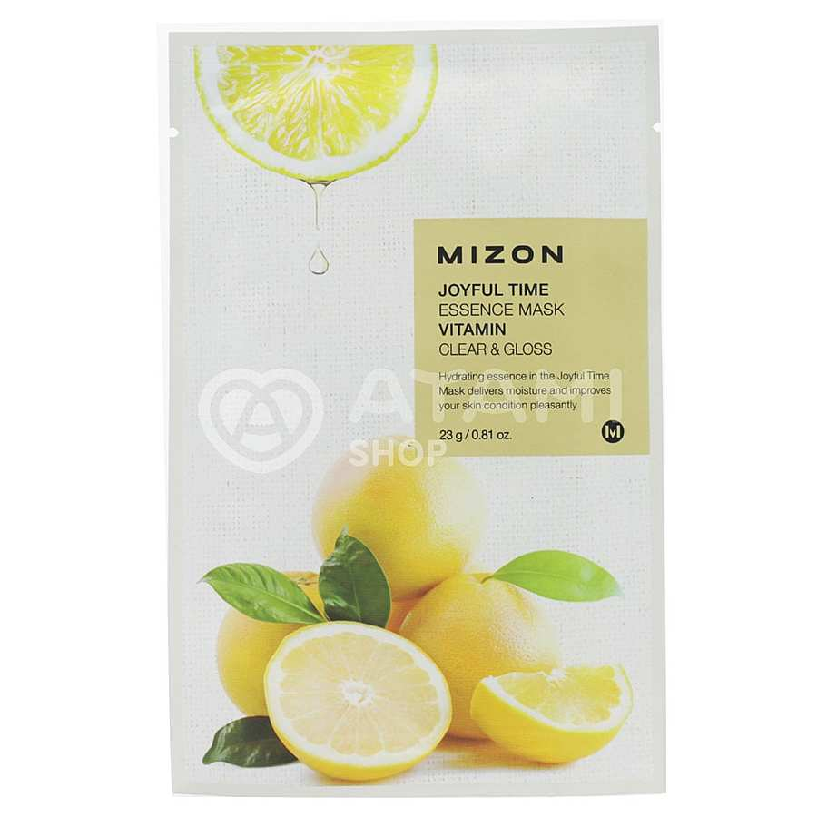 MIZON Joyful Time Essence Mask Vitamin С, 23гр. Маска для лица тканевая освежающая с витамином С