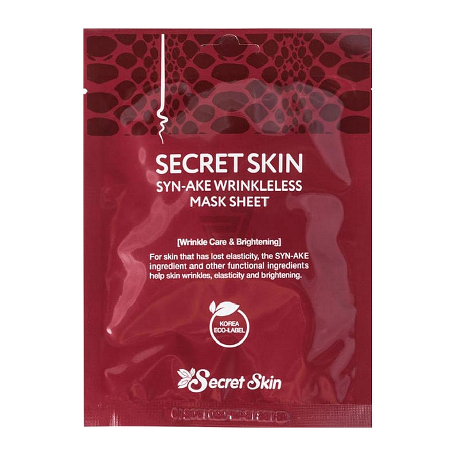 SECRET SKIN Syn-Ake Wrinkleless Mask Sheet Маска для лица со змеиным пептидом