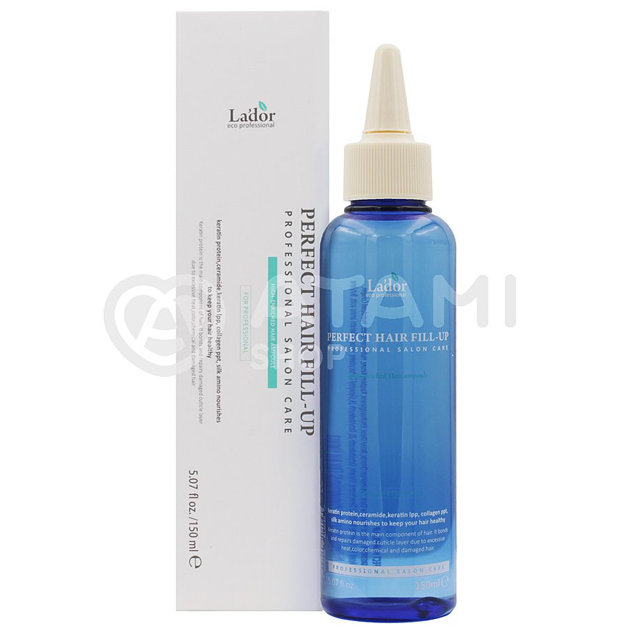 LA'DOR Perfect Hair Filler-Up High-Enriched Hair Ampoule Professional Salon Care, 150мл. Филлер для восстановления волос