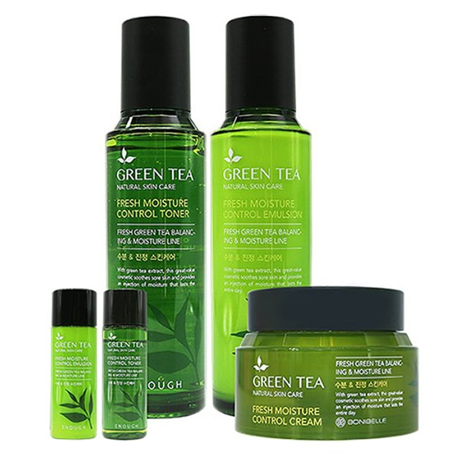 ENOUGH Green Tea Moisture Control 3set Набор для лица с зеленым чаем