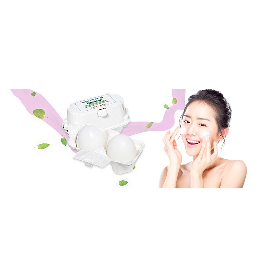 HOLIKA HOLIKA Egg Soap, 2*50гр. Мыло-маска для лица для сужения пор c яичным белком