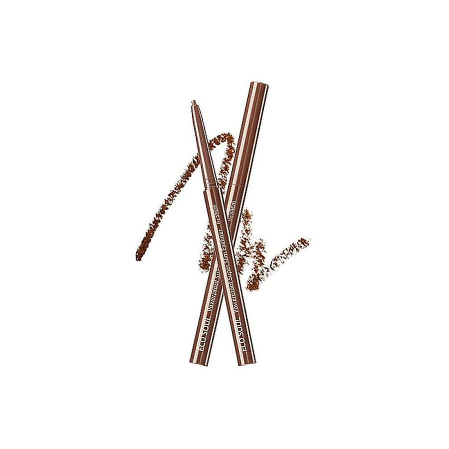 THE SAEM Подводка для глаз тонкая Eco Soul Powerproof Super Slim Eyeliner, BR06 Rose Brown 0,1гр