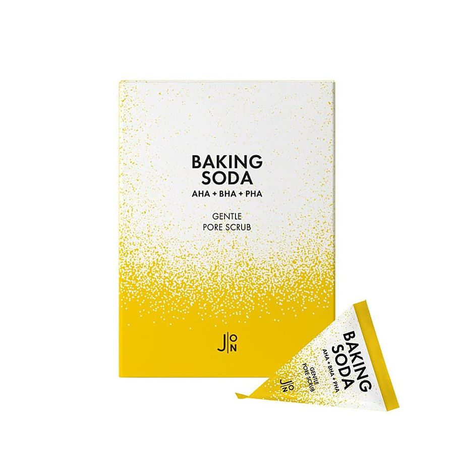 J:ON Baking Soda Gentle Pore Scrub, 20шт. Скраб для лица в пирамидках с содой, кислотами и растительными компонентами