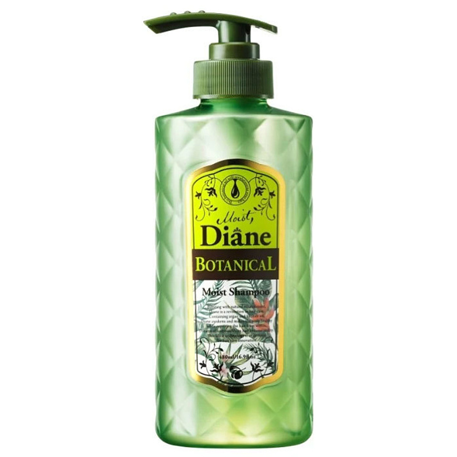 MOIST DIANE Botanical Moist Shampoo, 480 мл. Шампунь без сульфатов и силиконов с ароматом фруктового жасмина